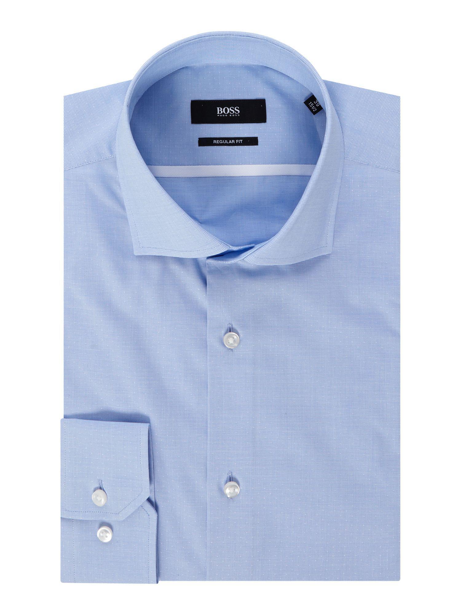 f19b9344d Boss Men's Gert Regular Fit Micro Dot in Blue for Men - Lyst