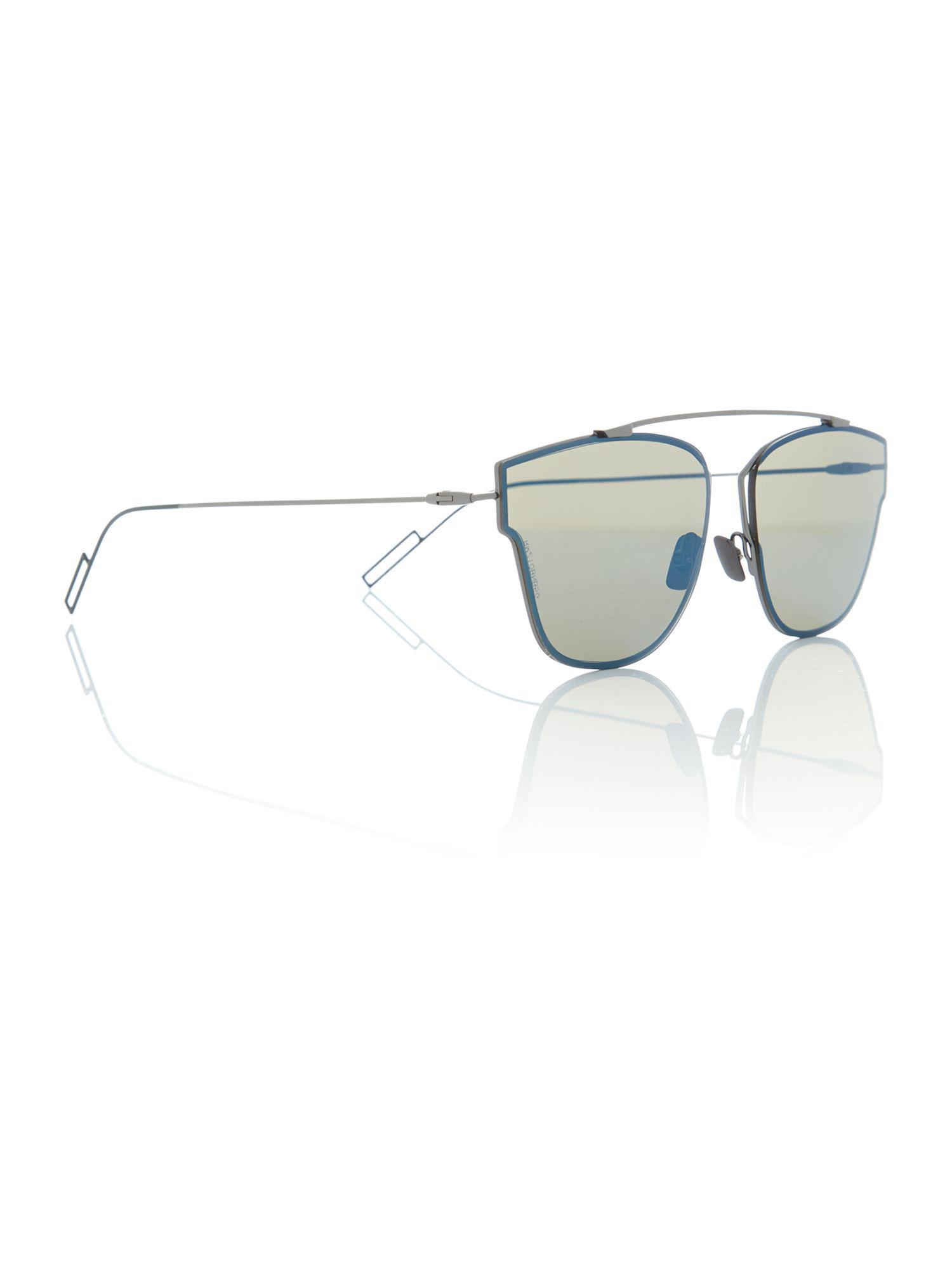 Dior. Men's Blue Cd 0204s Pilot Sunglasses