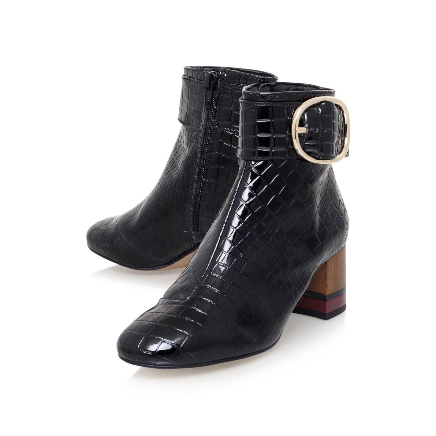 a388530611f Women's Black Ringo Zip Up Ankle Boots