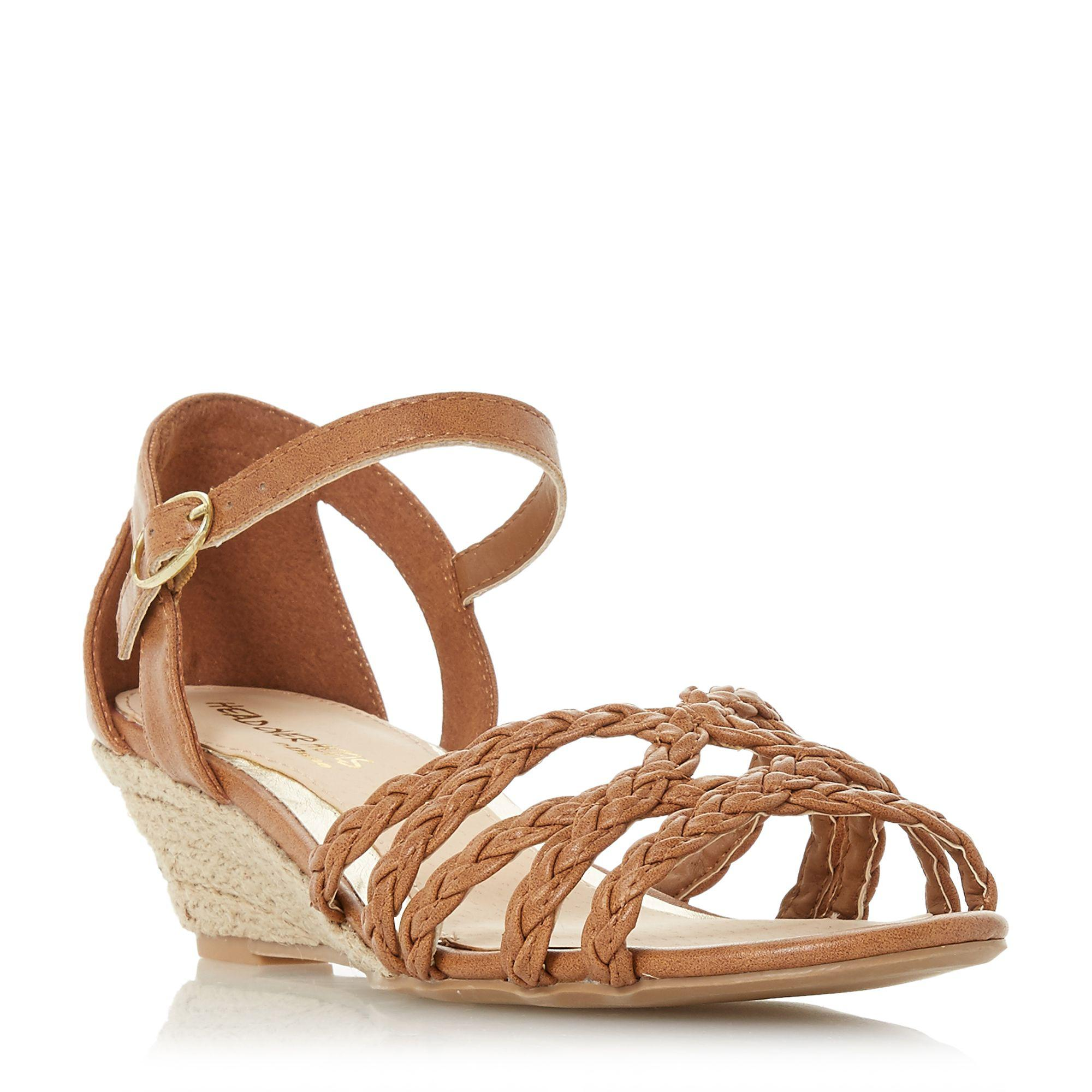 b5f125f1271a Dune Kourt Two Part Espadrille Wedge Sandals in Brown - Lyst