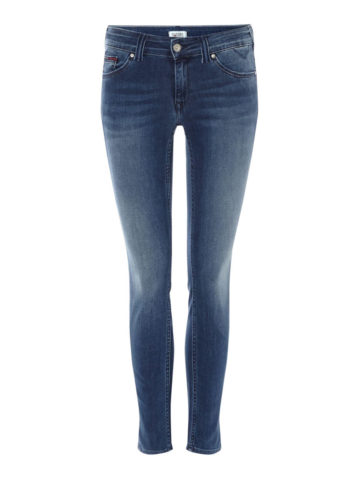 Tommy Hilfiger Sophie Low Rise Skinny Mrckg Jeans Straight Donna