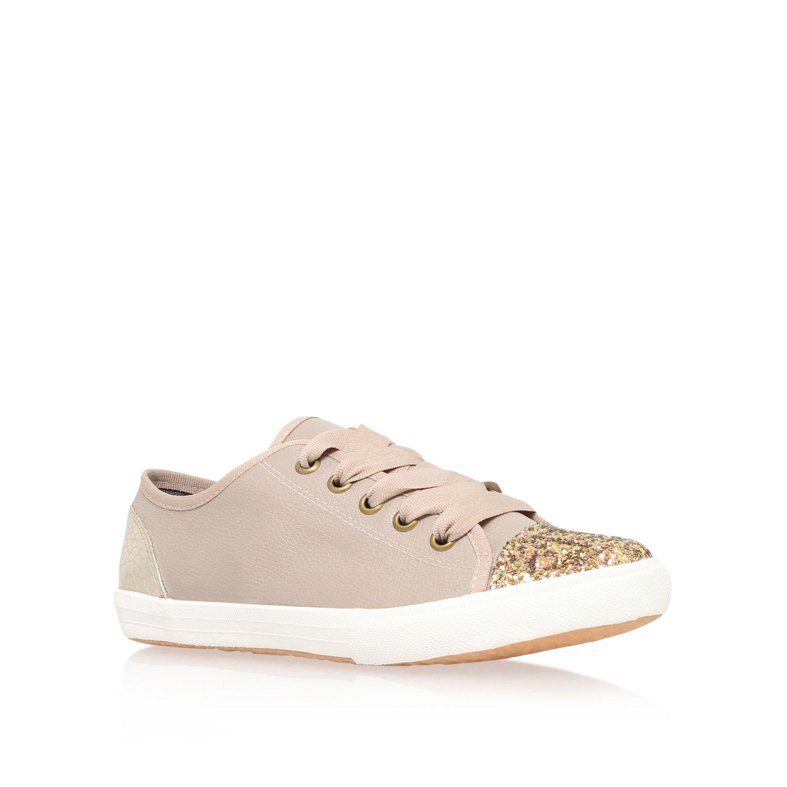 KG by Kurt Geiger Lucca Glitter Trainers, Nude at John