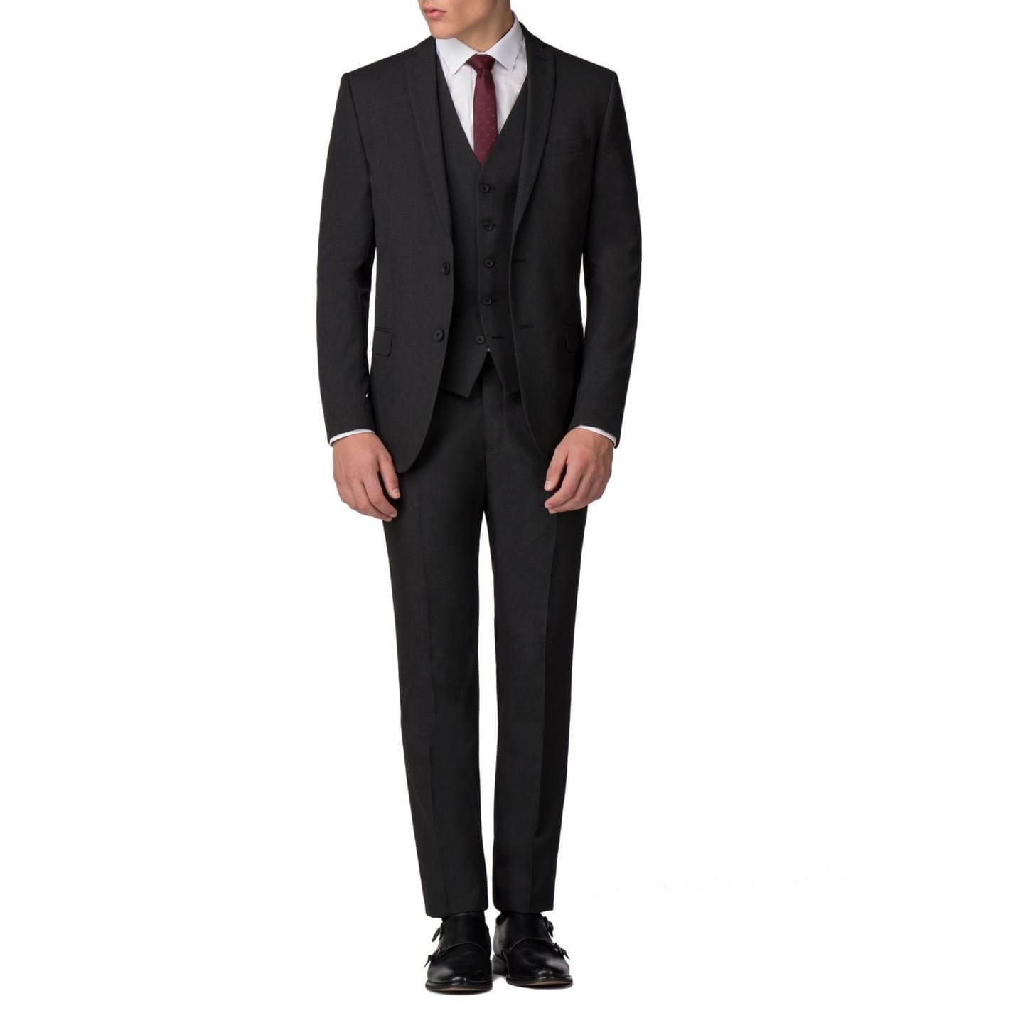 Limehaus Synthetic Harry Plain Charcoal Panama Trousers in Grey for Men