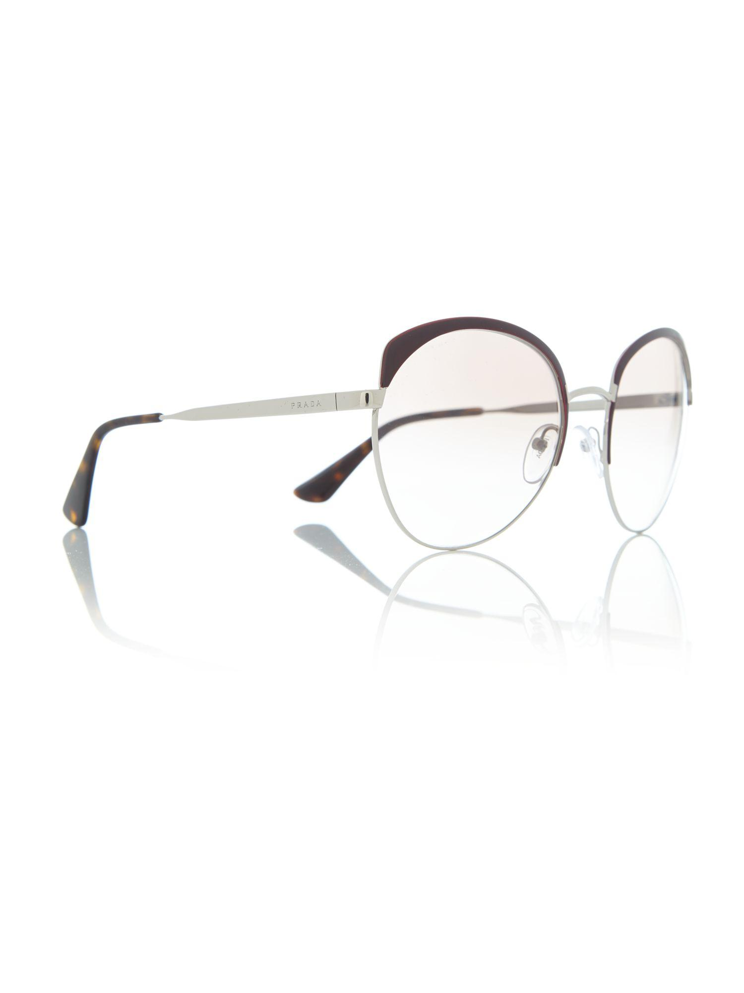 420d4ee07abb ... coupon prada. womens red bordeaux round pr 54ss sunglasses 99be7 29802