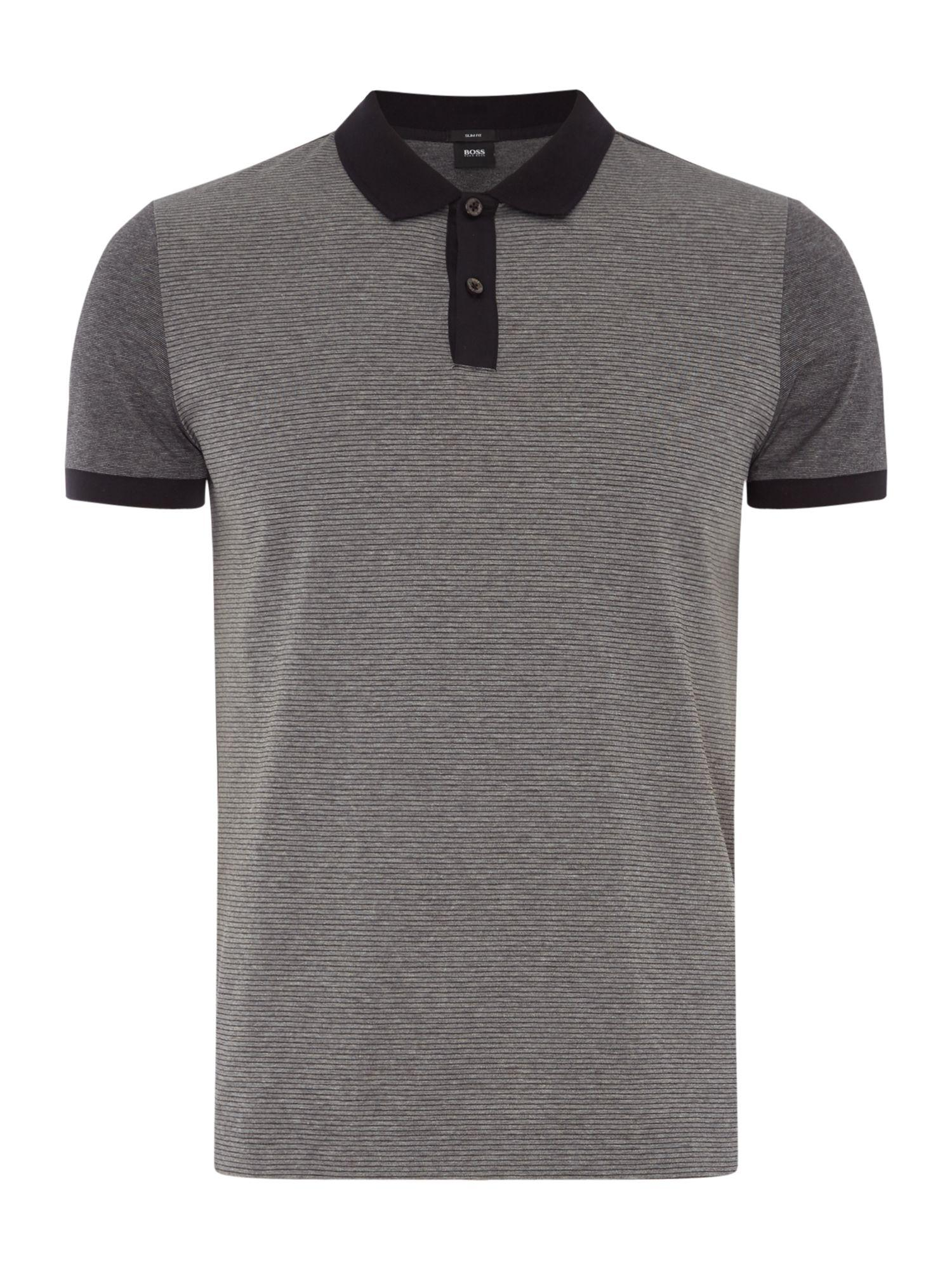 b29e821b8 Lyst - Boss Men s Philipson 21 Fine Stripe Mercerised Polo Shirt in ...