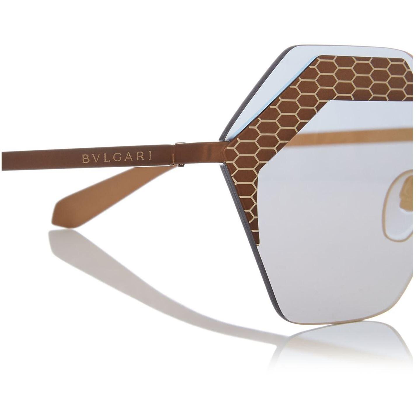 BVLGARI Light Brown Bv6103 Irregular Sunglasses
