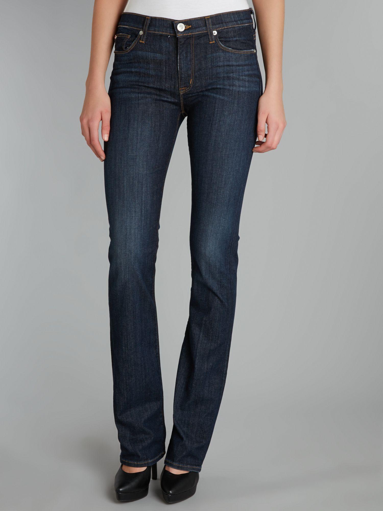 Hudson Jeans Elle Baby Bootcut Jeans in Abbey in Denim Dark Wash (Blue)