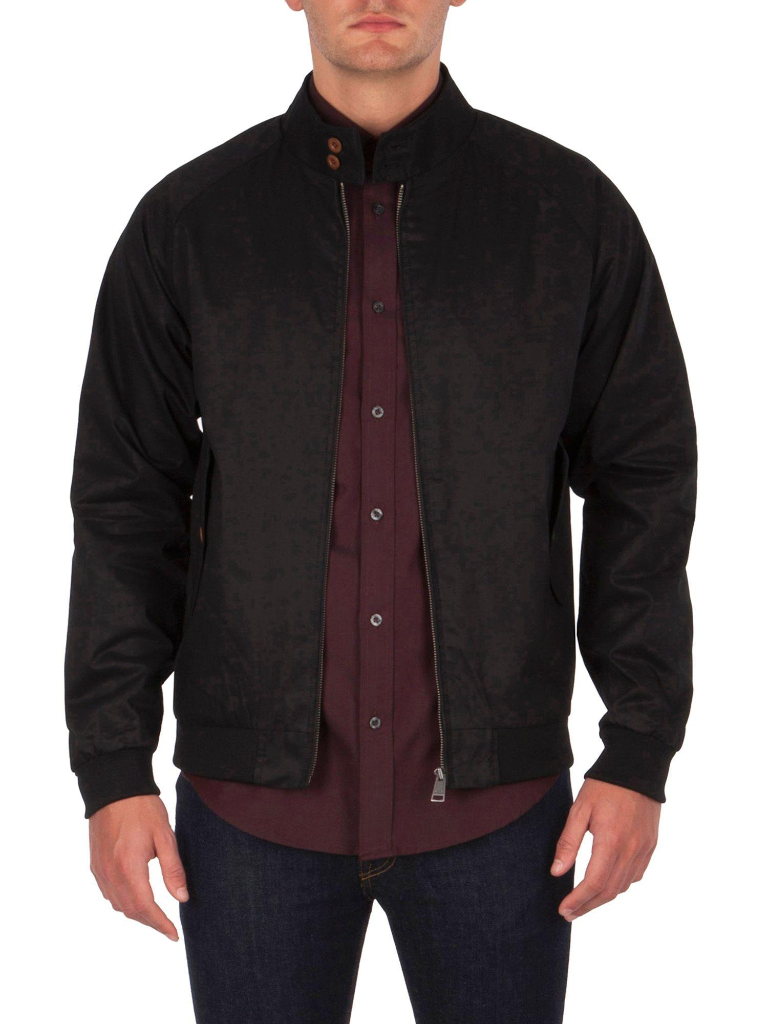 ben sherman the harrington jacket in black for men lyst. Black Bedroom Furniture Sets. Home Design Ideas