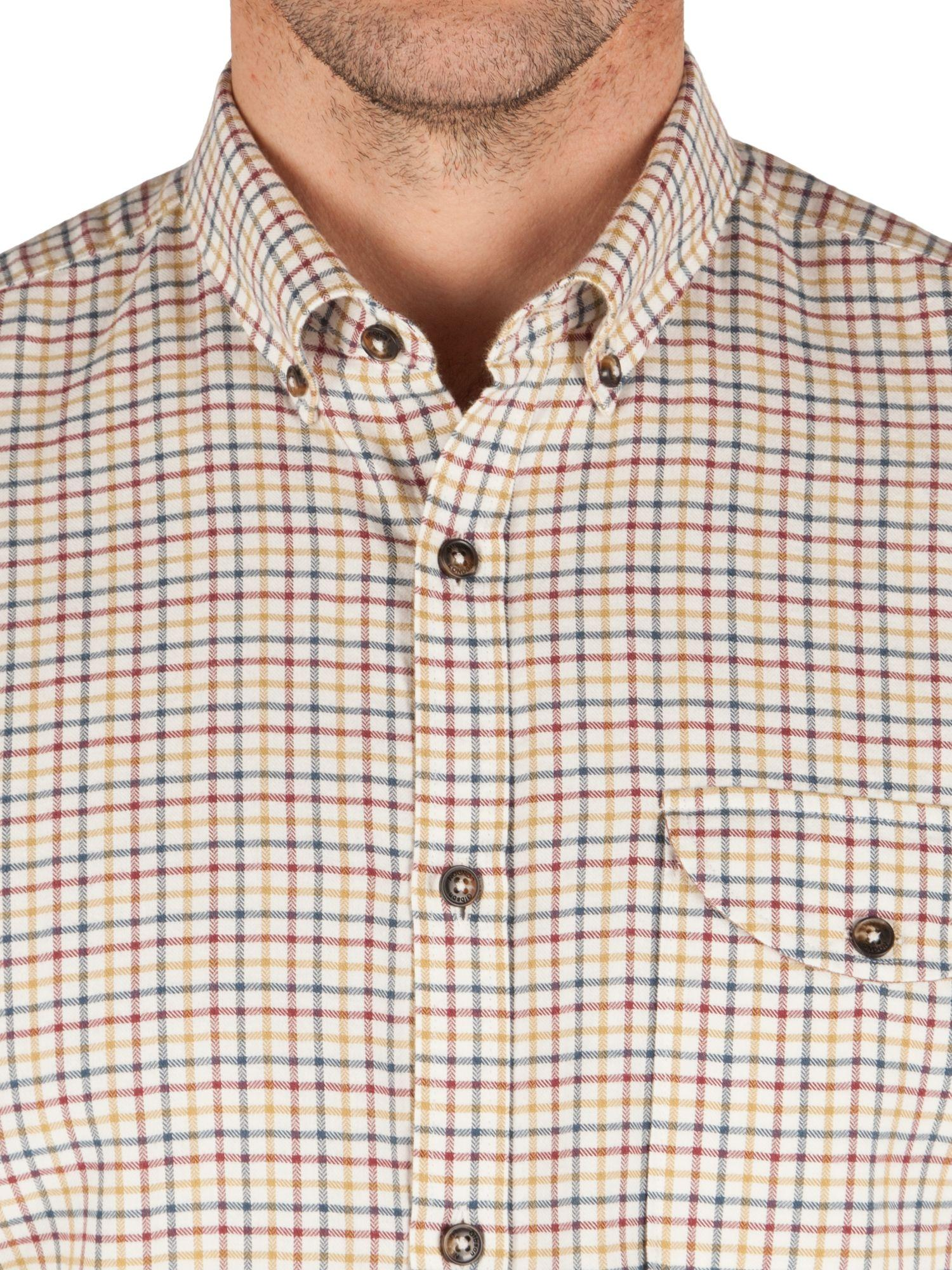 Gibson Cotton Check Tailored Fit Long Sleeve Shirt in Tan (Brown) for Men
