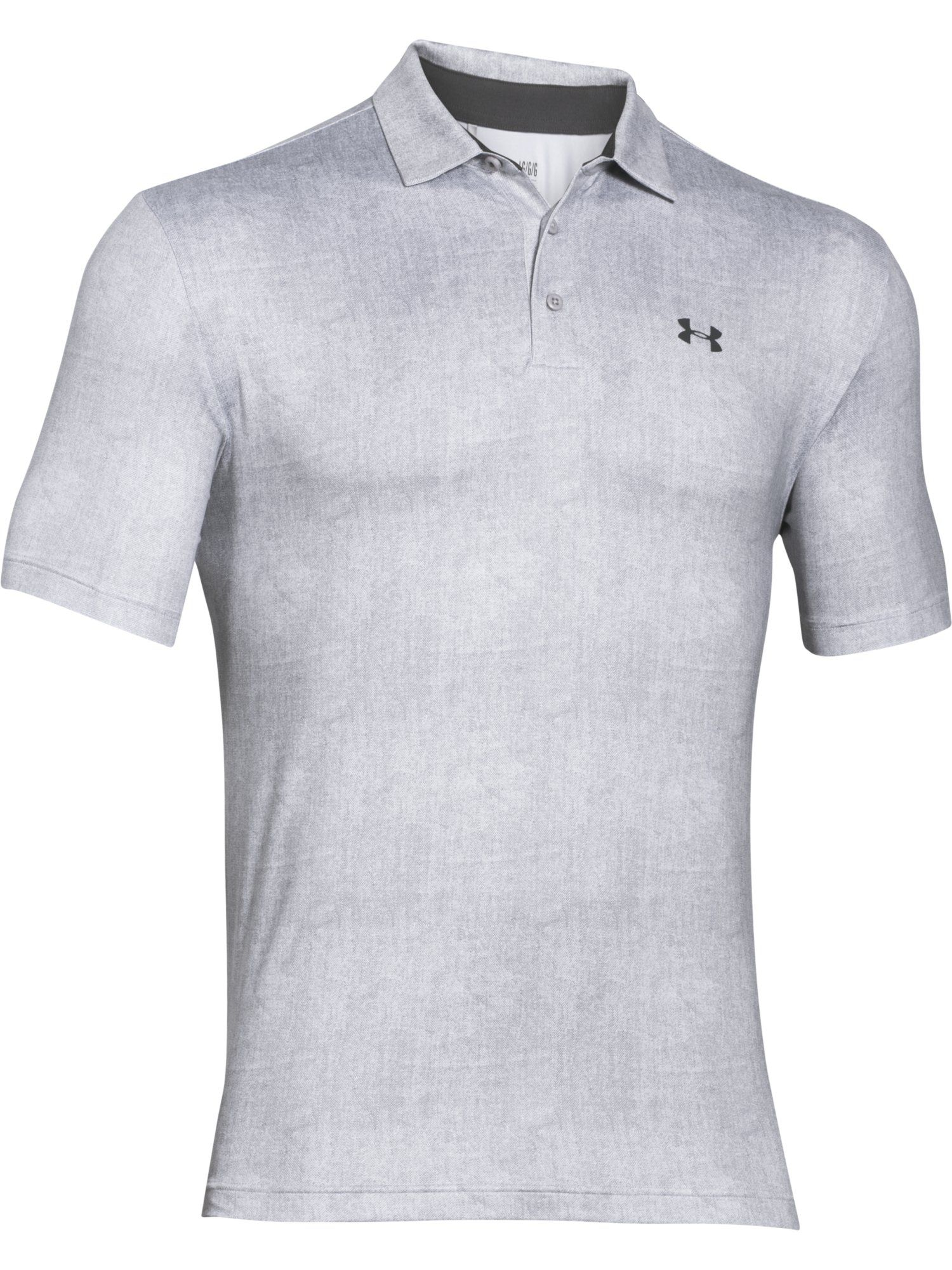 Under armour playoff polo in gray for men lyst for Gray under armour shirt