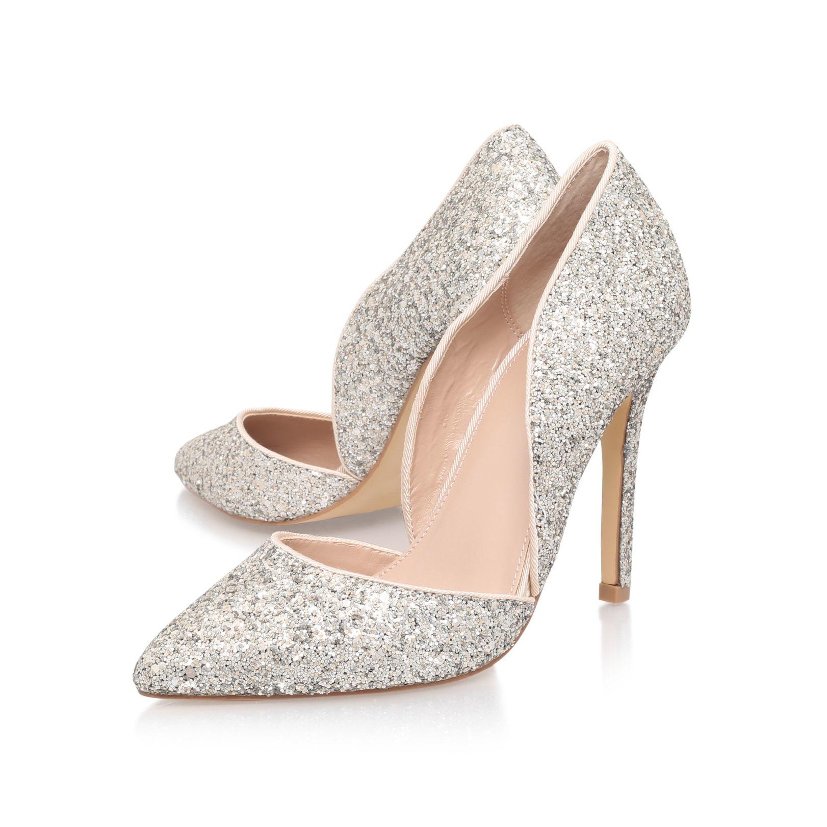 carvela kurt geiger lexi high heel court shoes in metallic lyst. Black Bedroom Furniture Sets. Home Design Ideas