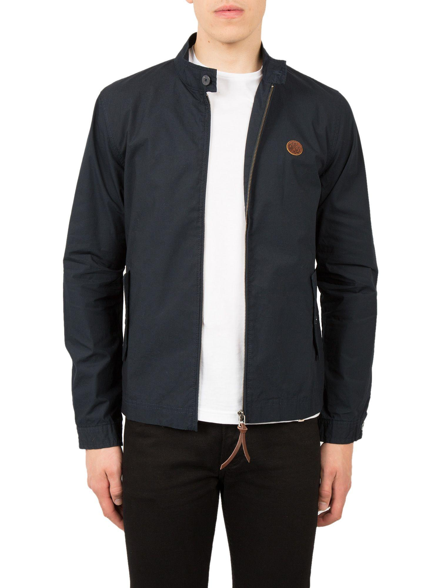 Pretty Green Cotton Kingsway Harrington in Navy (Black) for Men