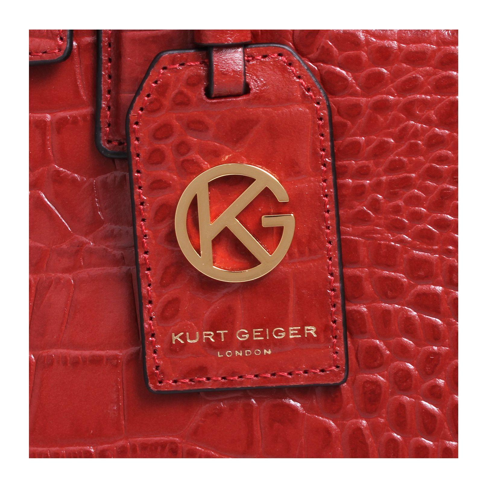 Kurt Geiger Leather Croc London Tote Bag in Rust (Brown)