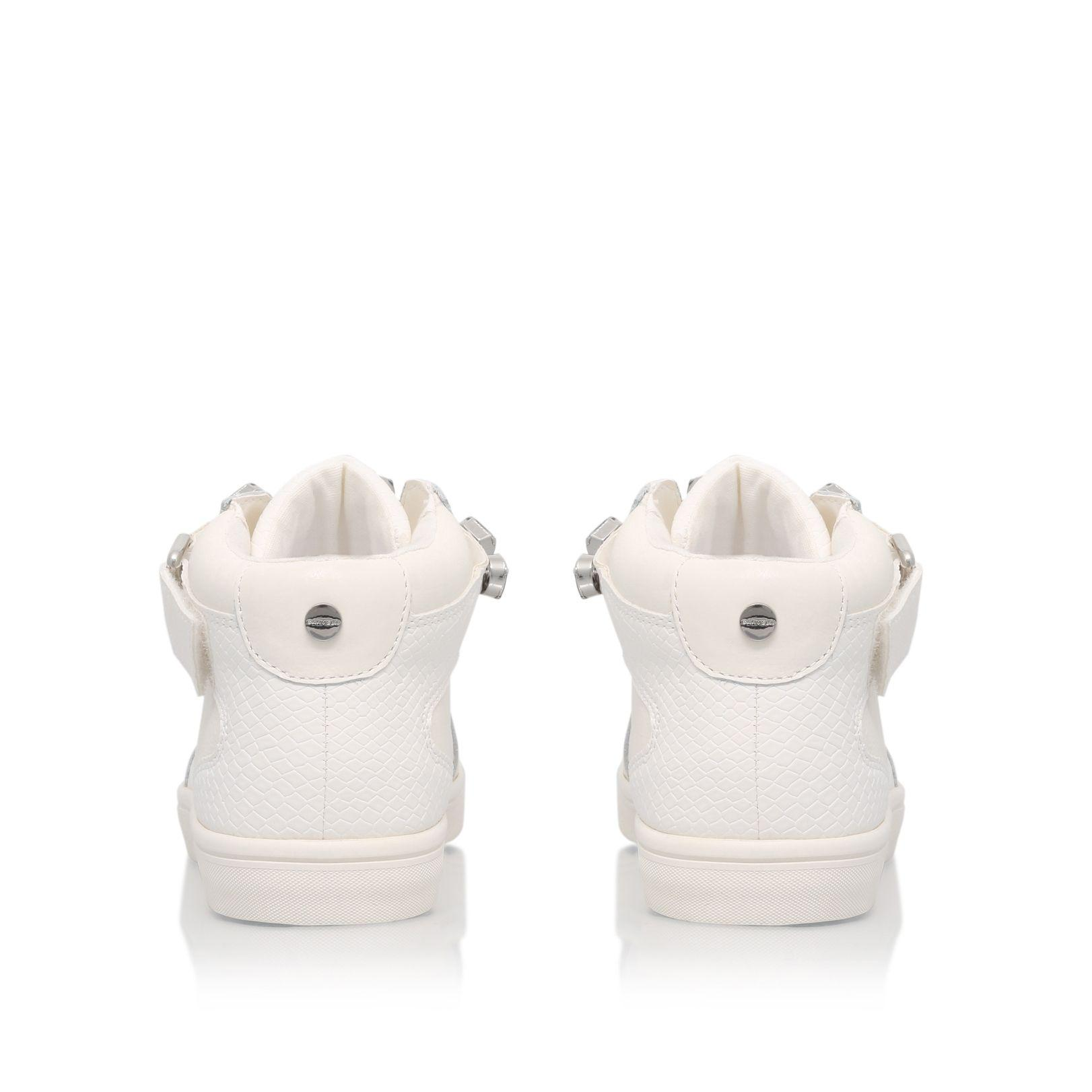 Carvela Kurt Geiger Leather Luminous Embellished Hi Top Boots in White (Black)