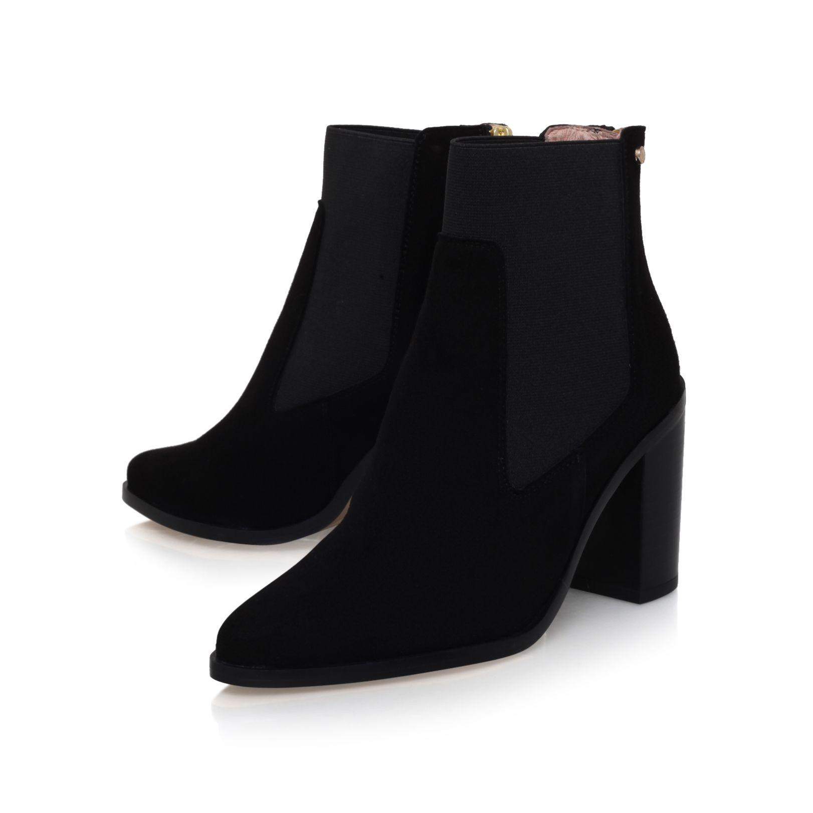 Kurt Geiger Dellow Mid Heel Ankle Boots in Black
