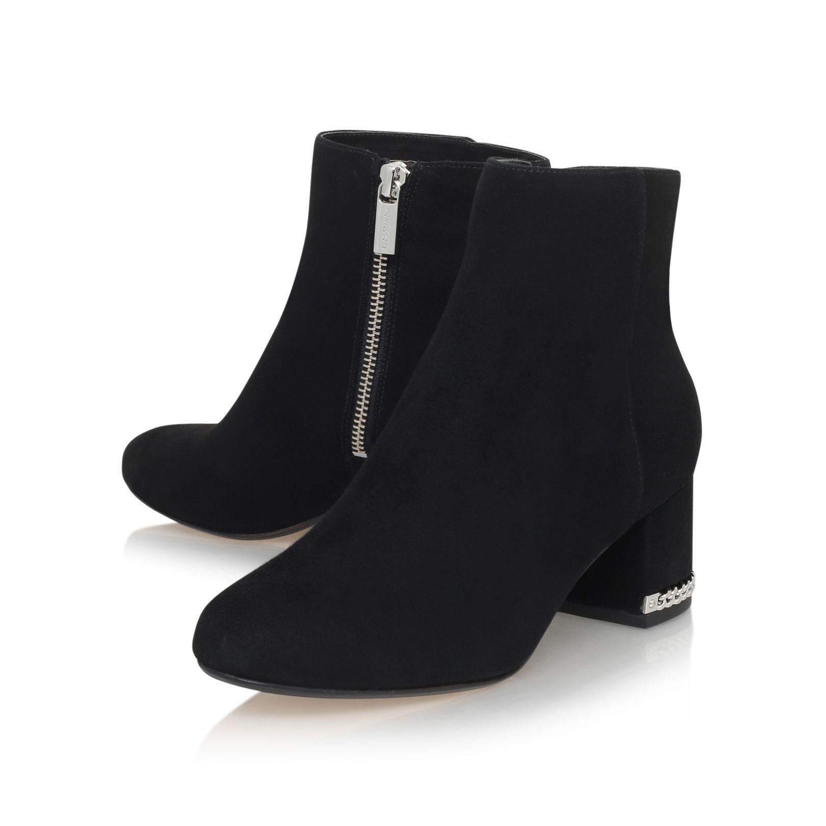 michael kors sabrina suede ankle boots in black lyst. Black Bedroom Furniture Sets. Home Design Ideas