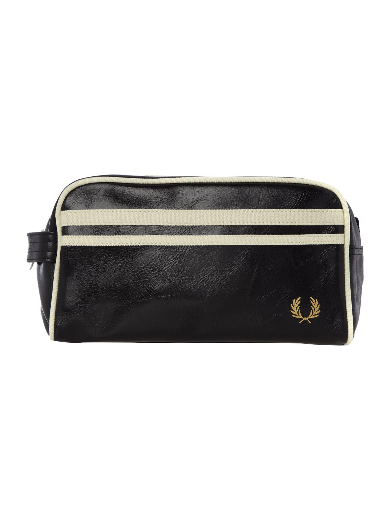 Lyst fred perry classic travel washbag in black for Quality classic house of fraser