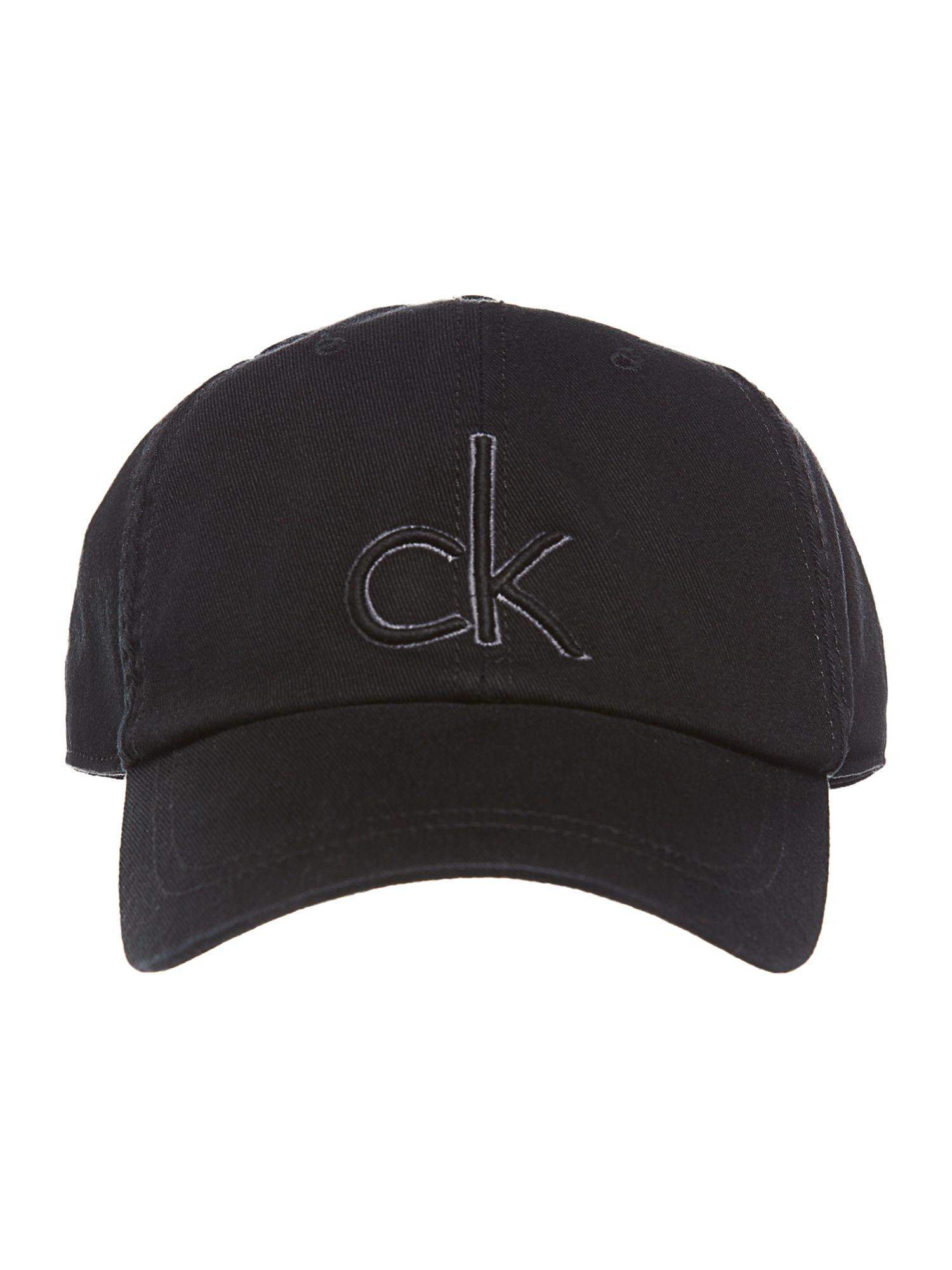 calvin klein classic logo cap in black for men lyst. Black Bedroom Furniture Sets. Home Design Ideas