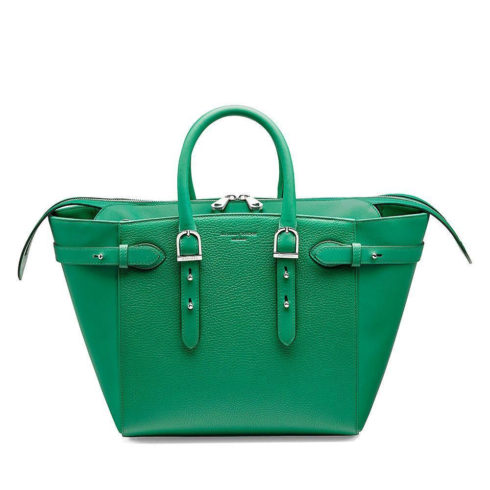 Aspinal of London Marylebone Medium Tote Bag in Green
