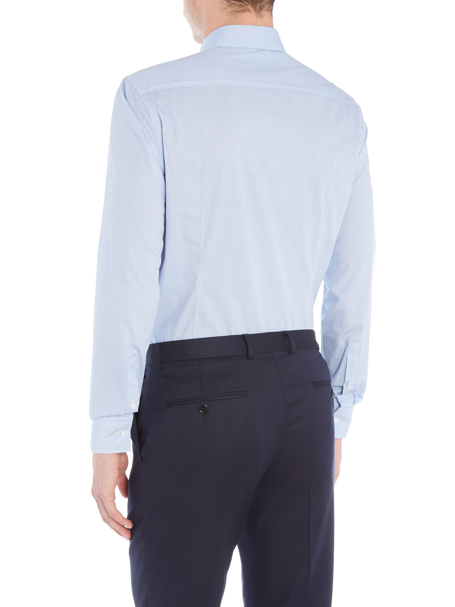 Boss classic shirt in blue for men lyst for Quality classic house of fraser