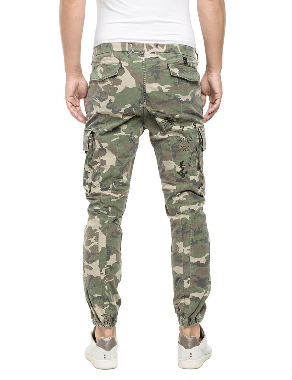 Replay Camouflage Twill Pants in Natural for Men | Lyst