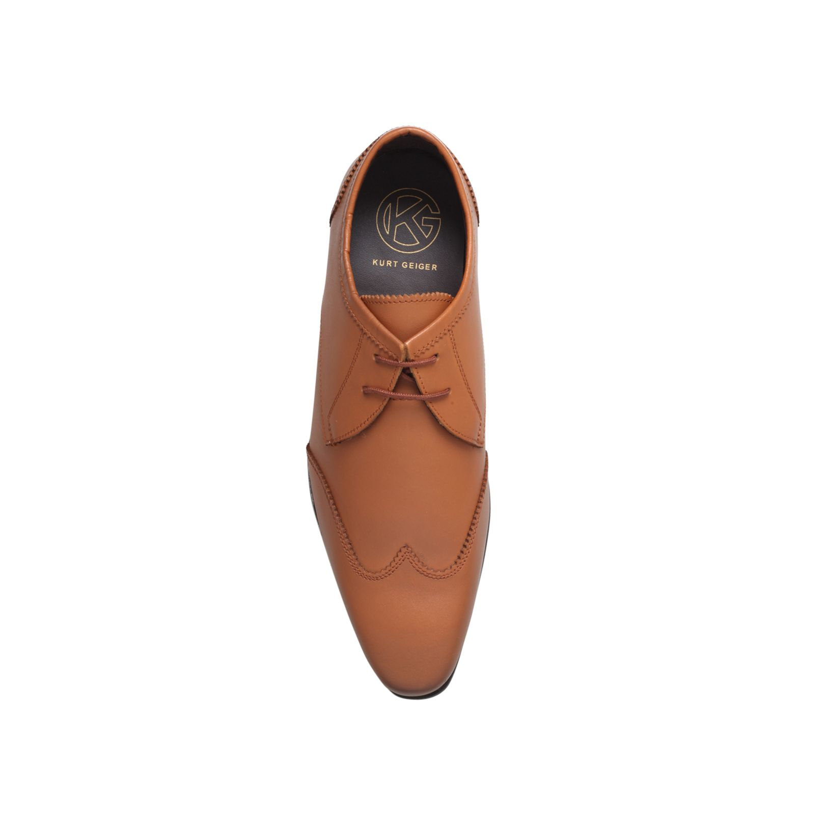 KG by Kurt Geiger Emsworth Lace Up Leather Shoe in Tan (Brown) for Men