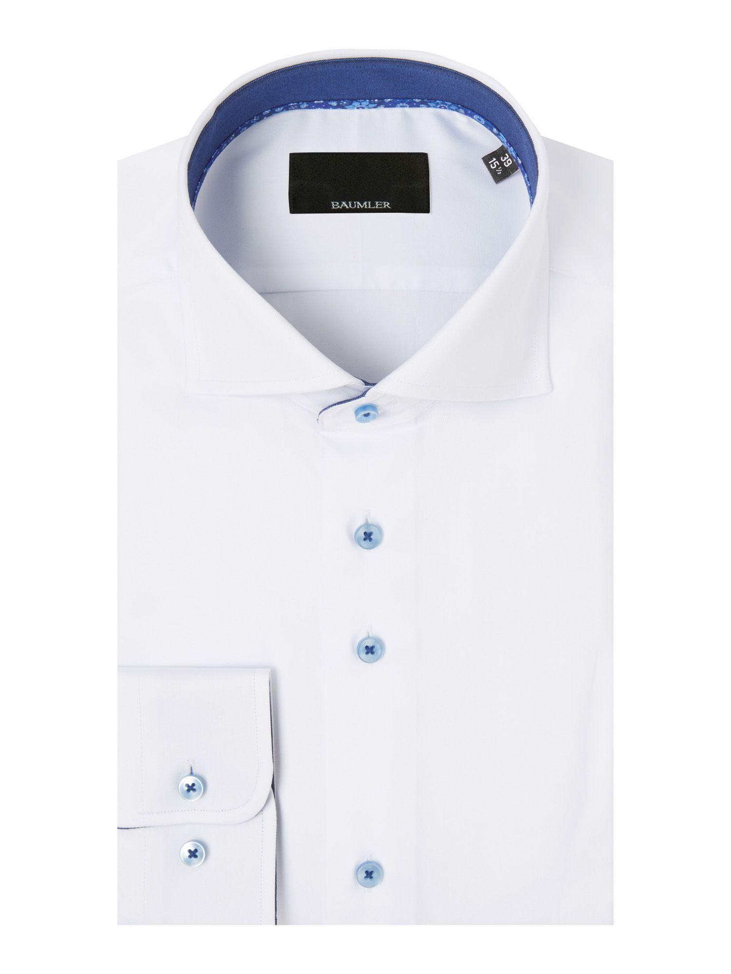B umler white single cuff shirt in white for men lyst for Single cuff dress shirt