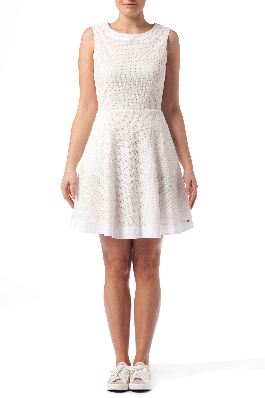 Tommy Hilfiger Denim Nita Dress In White Green Lyst