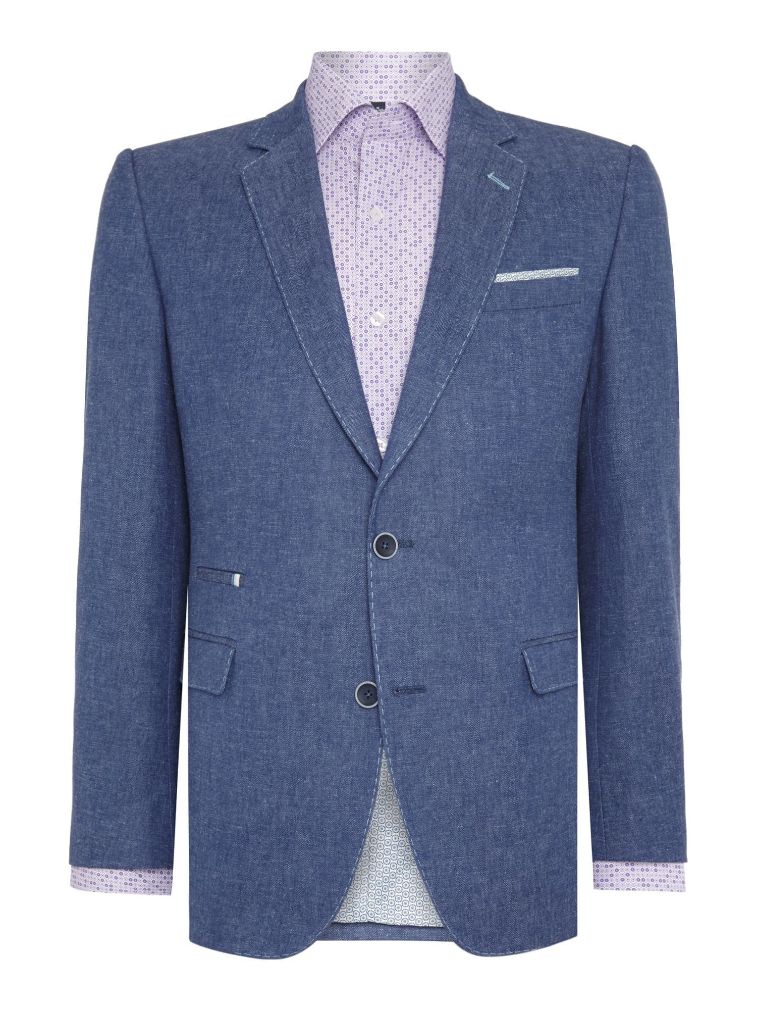 Choosing a jacket in a more versatile and textured colour like blue will help make your tweed more suited to a casual look. With a casual outfit, as there's less pressure to dress up, you're in a better position to experiment with layering and colours.