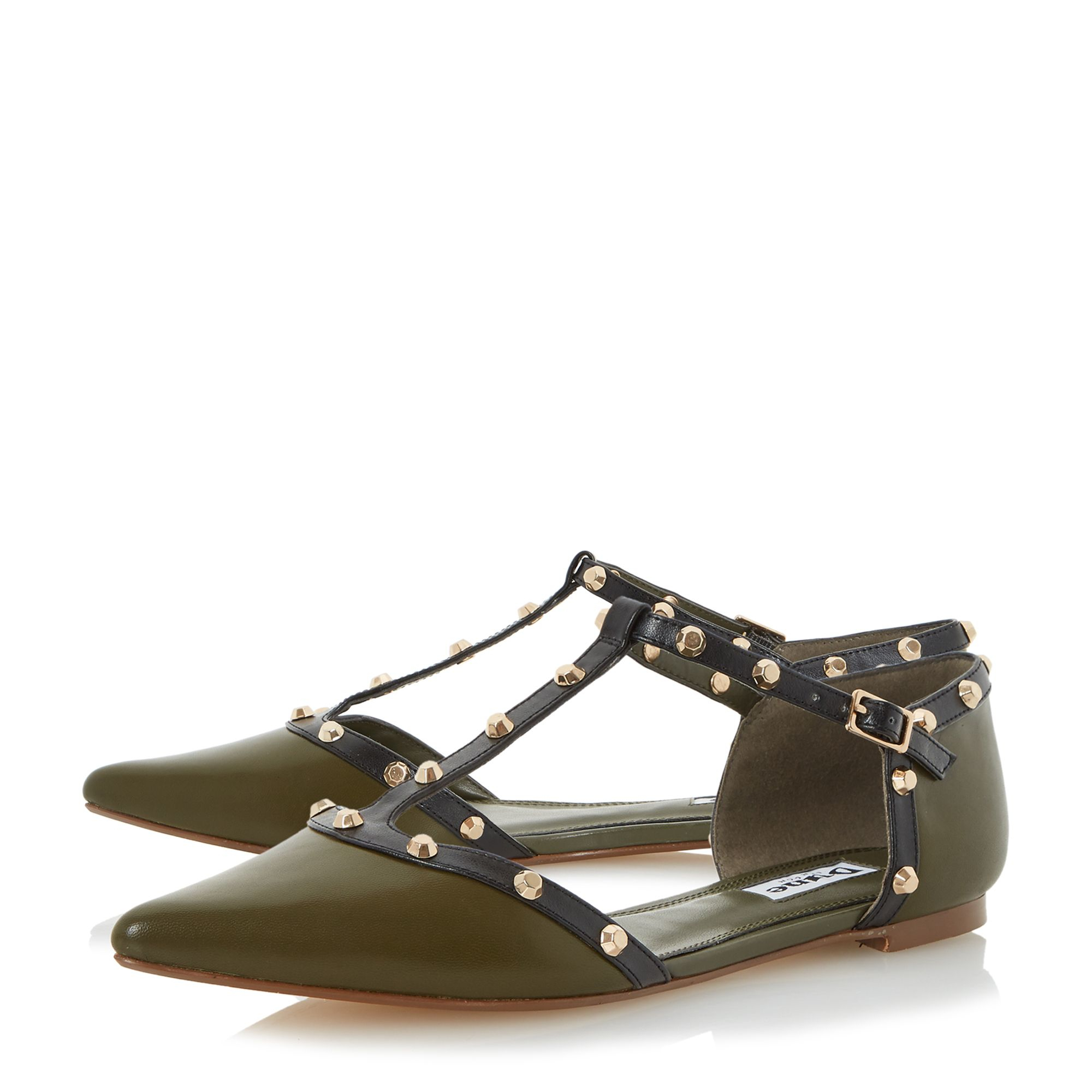 Lyst - Dune Heti Stud Pointed Flat Shoes