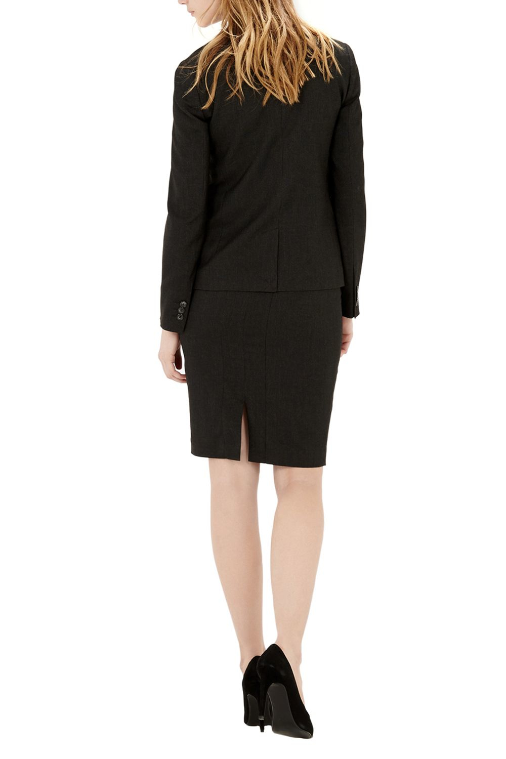 warehouse textured tailored pencil skirt in black lyst
