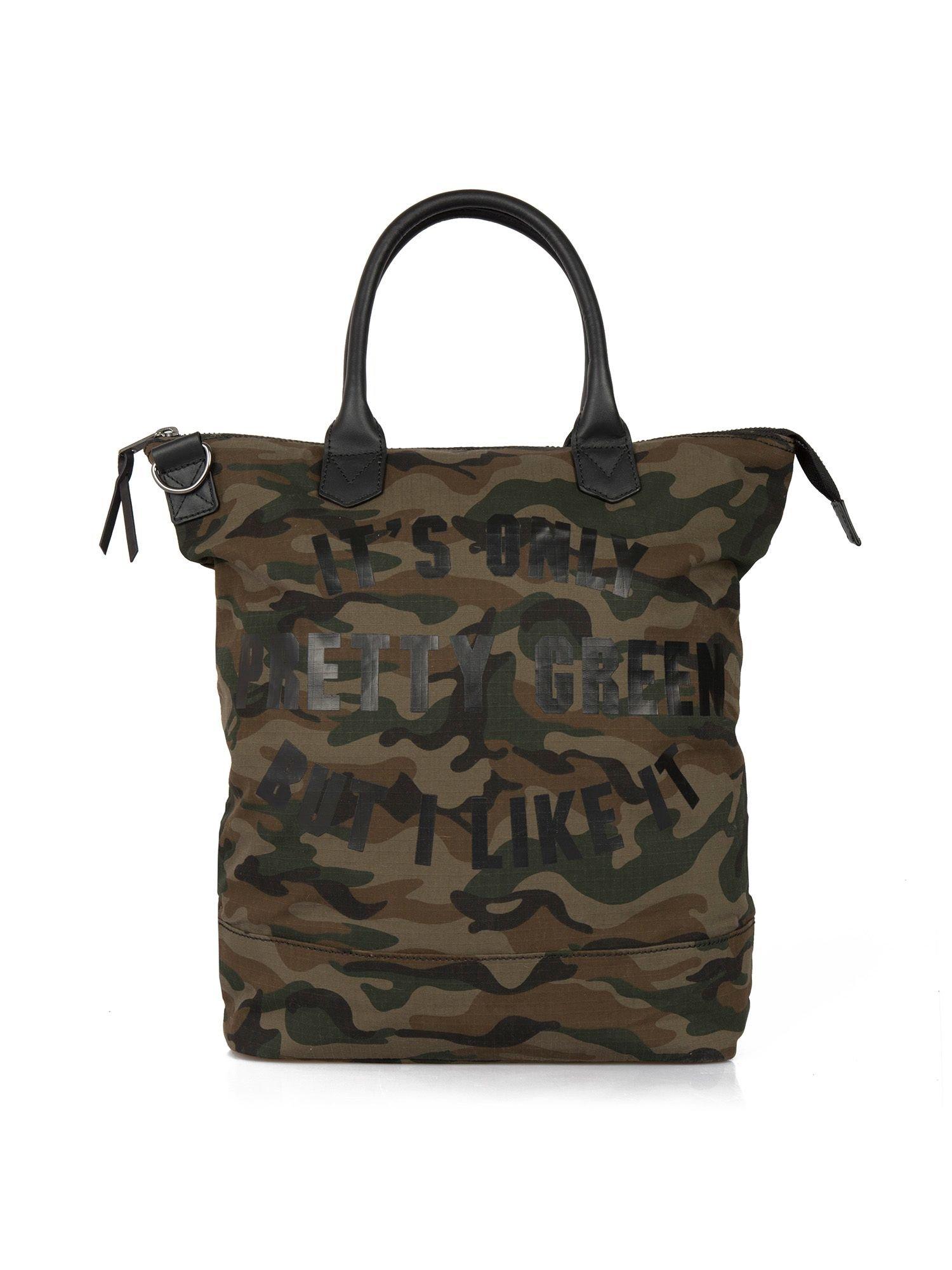 Pretty Green Opg Camo Tote Bag in Natural for Men
