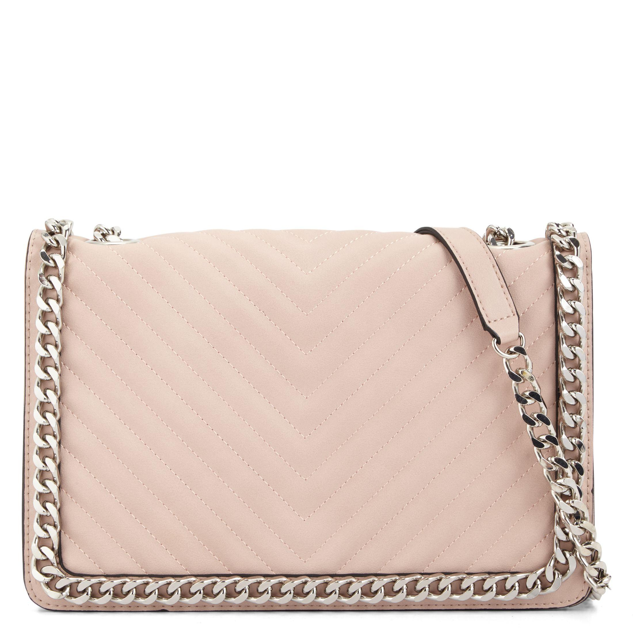 Lyst Aldo Greenwald Quilted Chain Handbag In Pink
