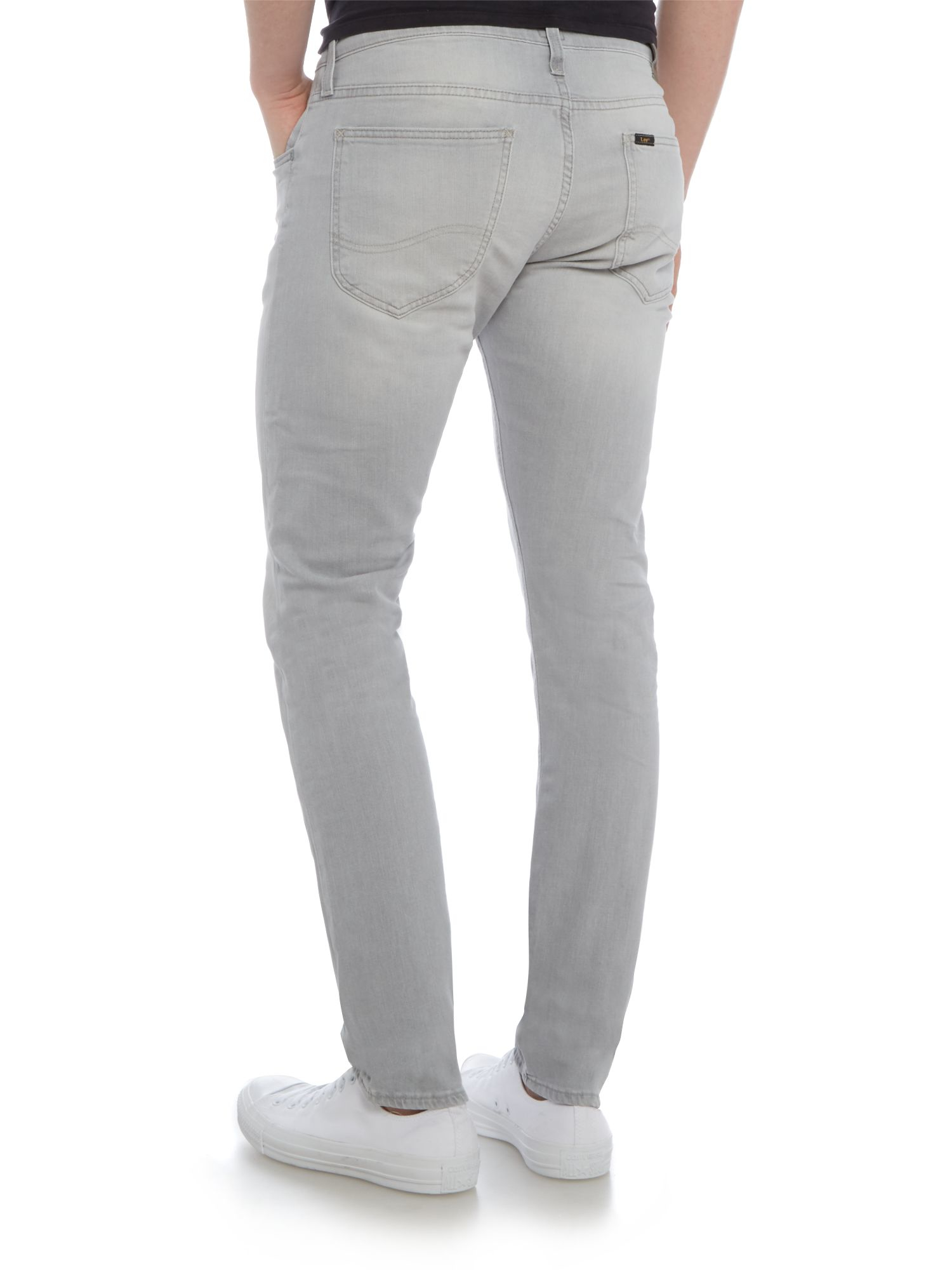 Lee Jeans Denim Luke Grey Cloud Slim Taper Jean in Grey Denim (Grey) for Men