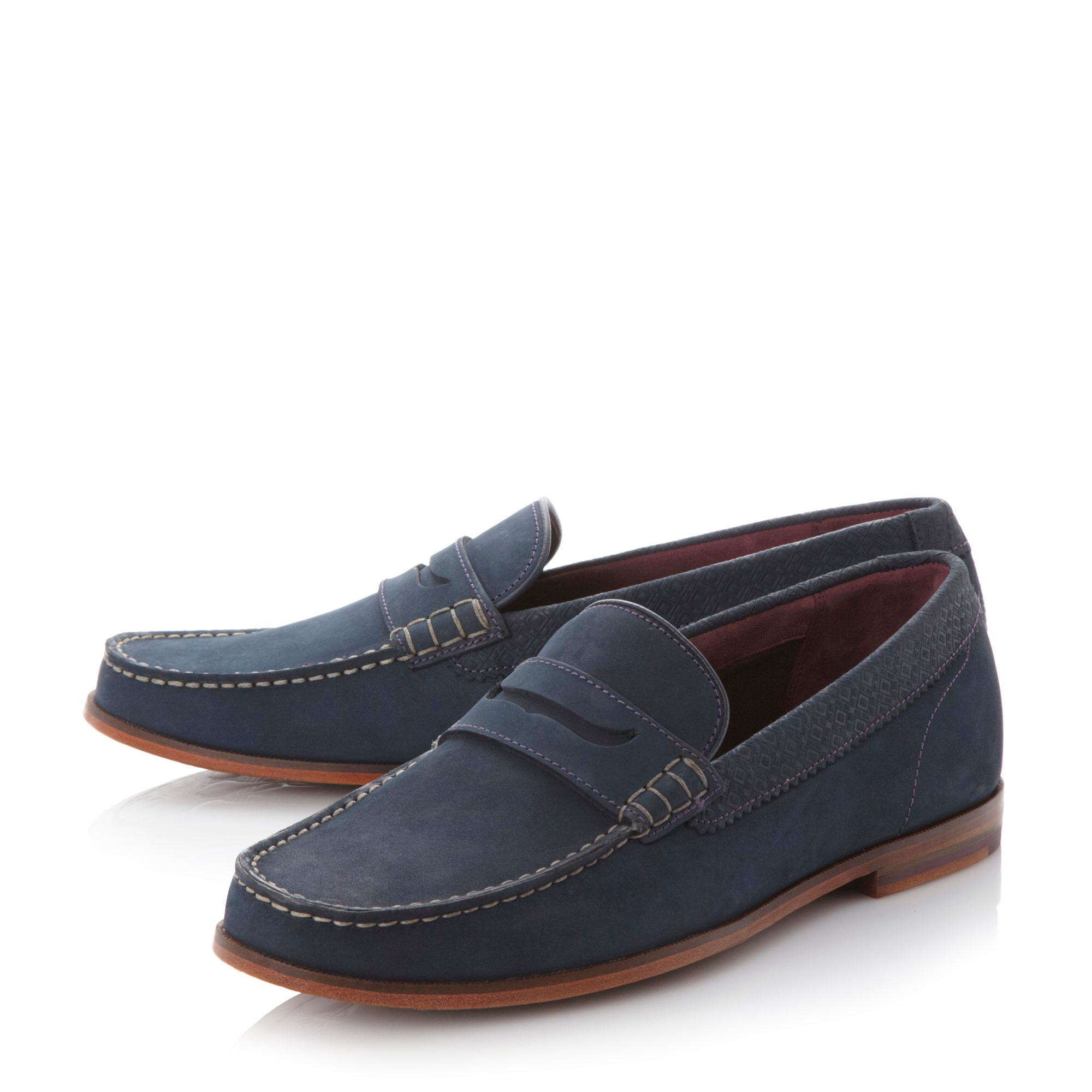 Ted baker Miicke 2 Penny Loafers in Blue for Men (Tan) | Lyst
