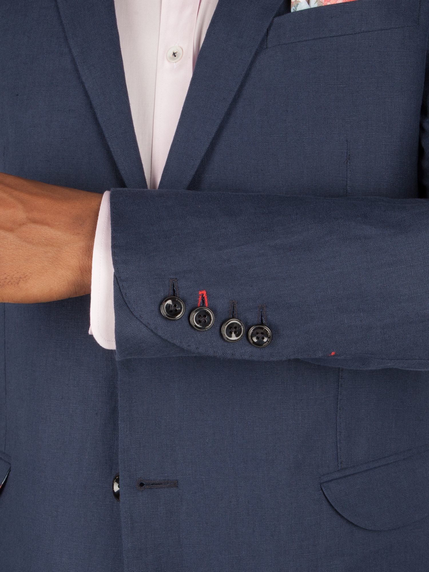 1 Like No Other Linen Princeton Jacket in Blue for Men