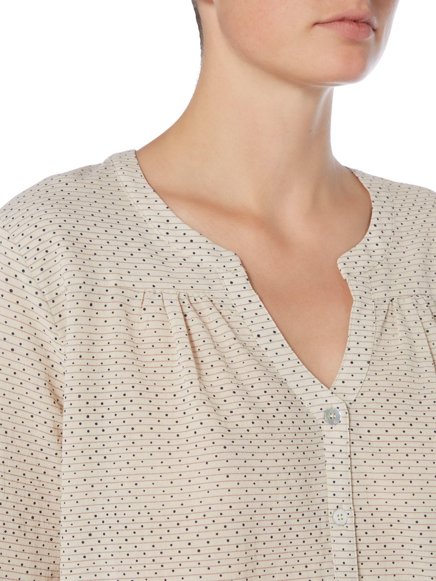 Braintree Cotton Artis Woven Blouse in Cream (Natural)