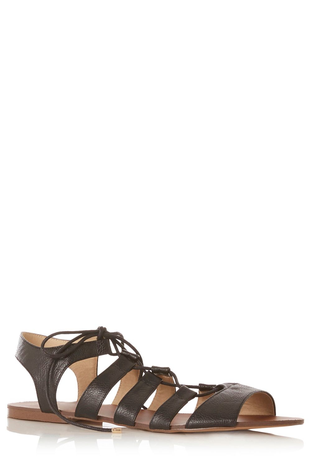 Oasis Gracie Lace Up Sandal in Black