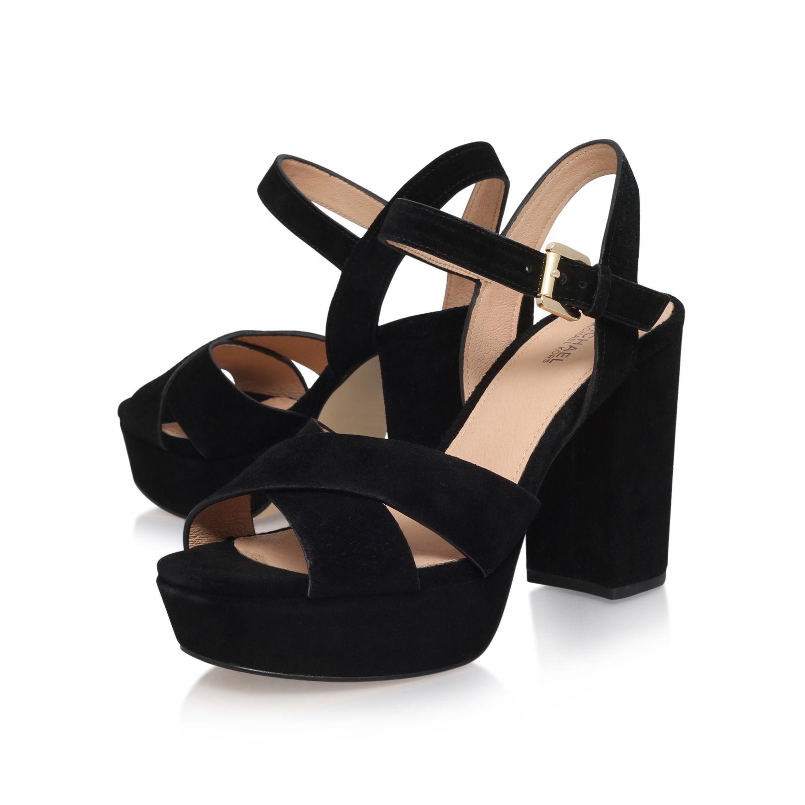michael kors divia platform high heel sandals in black lyst. Black Bedroom Furniture Sets. Home Design Ideas