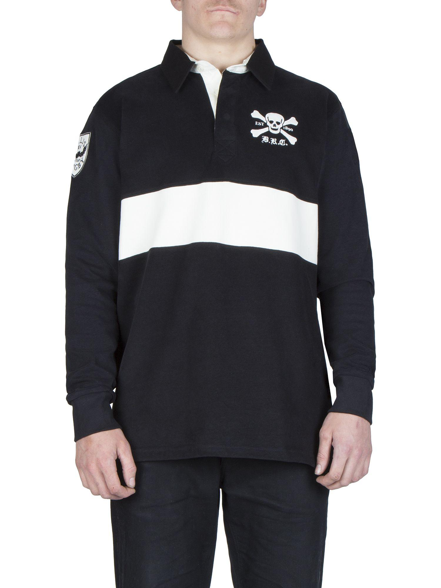 Ellis Rugby Cotton Invitation Xv Rugby Top in Black for Men
