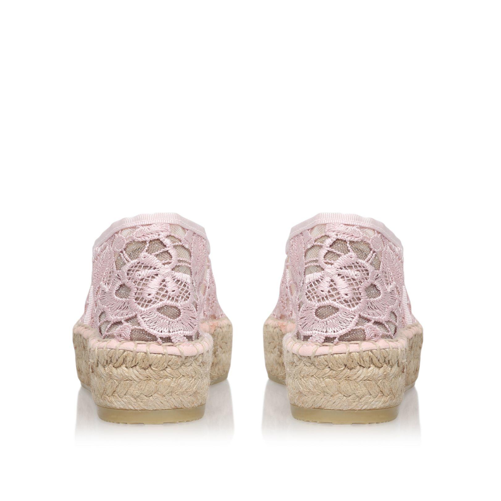 Kurt Geiger Synthetic Clova Flat Espadrille Sneakers in Pink