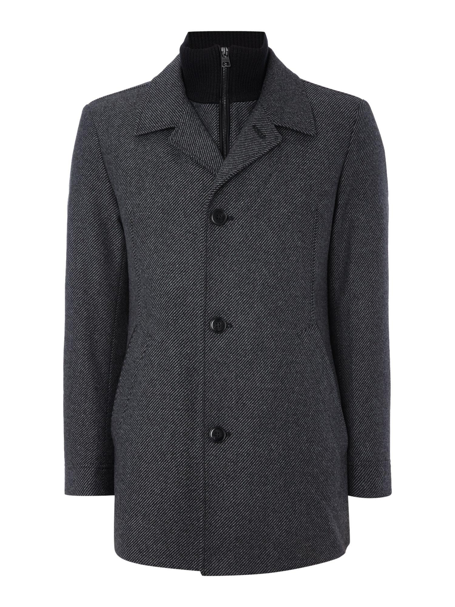 hugo barelto gilet insert coat in gray for men lyst. Black Bedroom Furniture Sets. Home Design Ideas