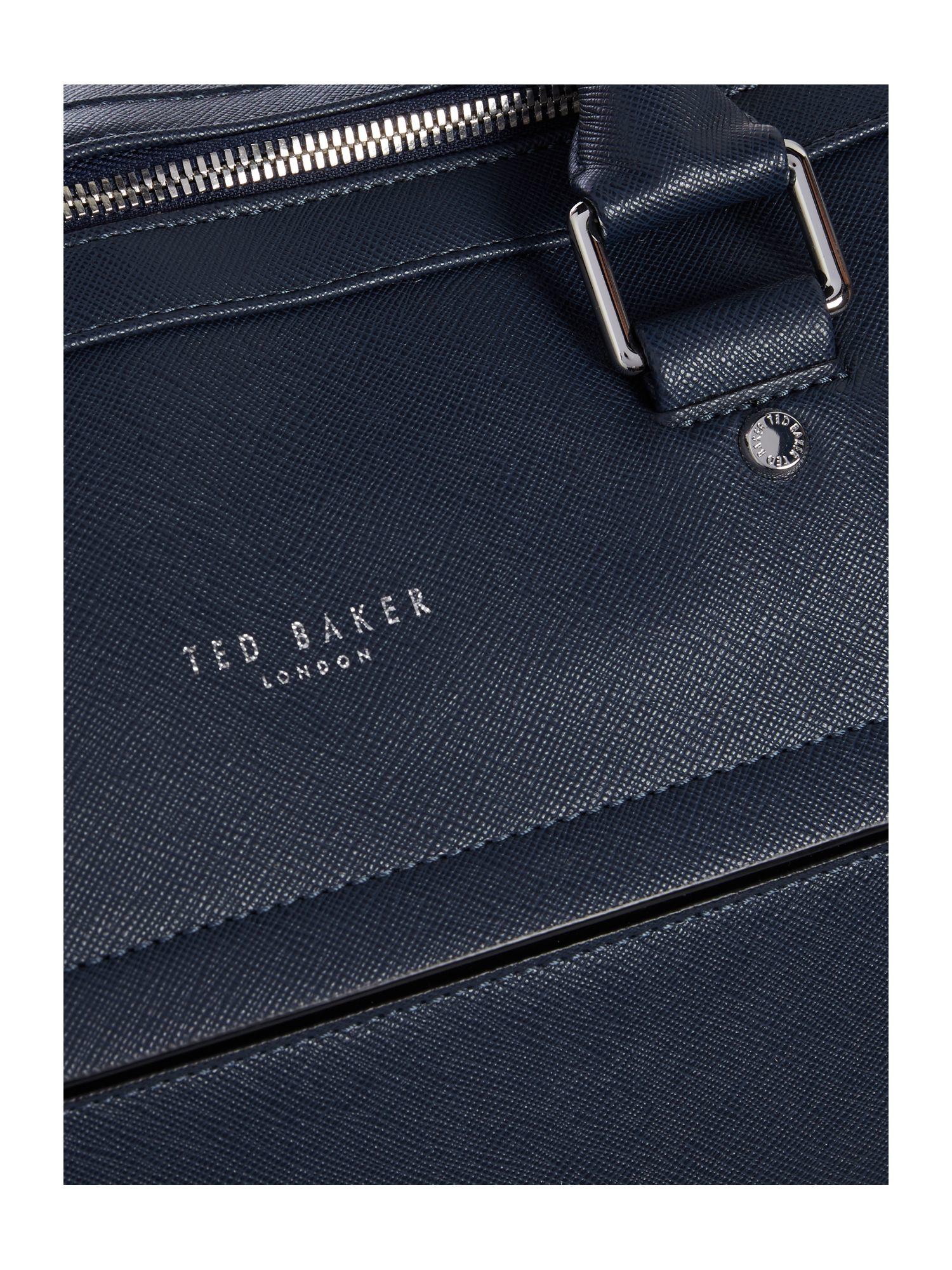 Ted Baker Signals Cross Grain Holdall in Navy (Blue) for Men