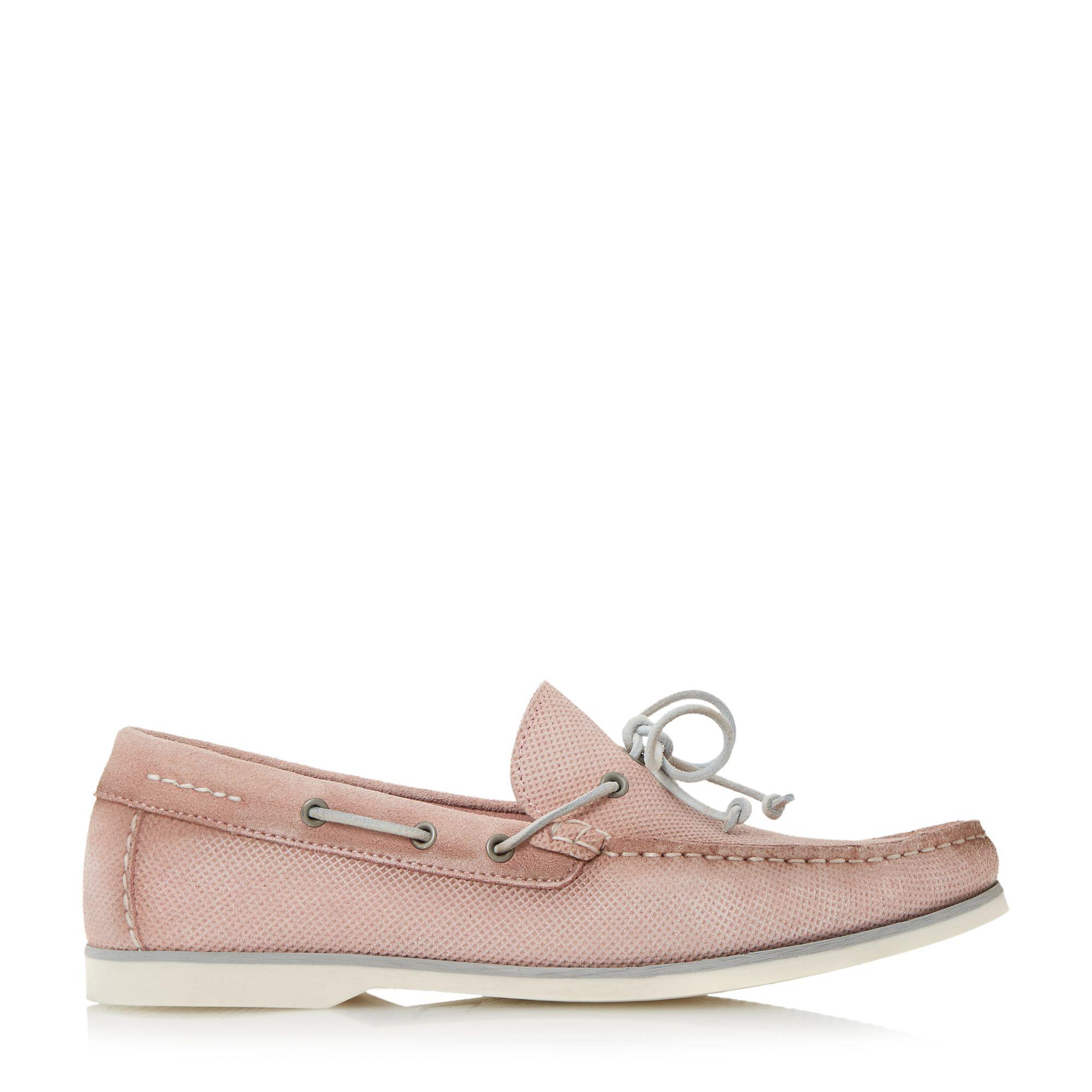 Bertie Bubble Textured Suede Boat Shoes in Pink for Men