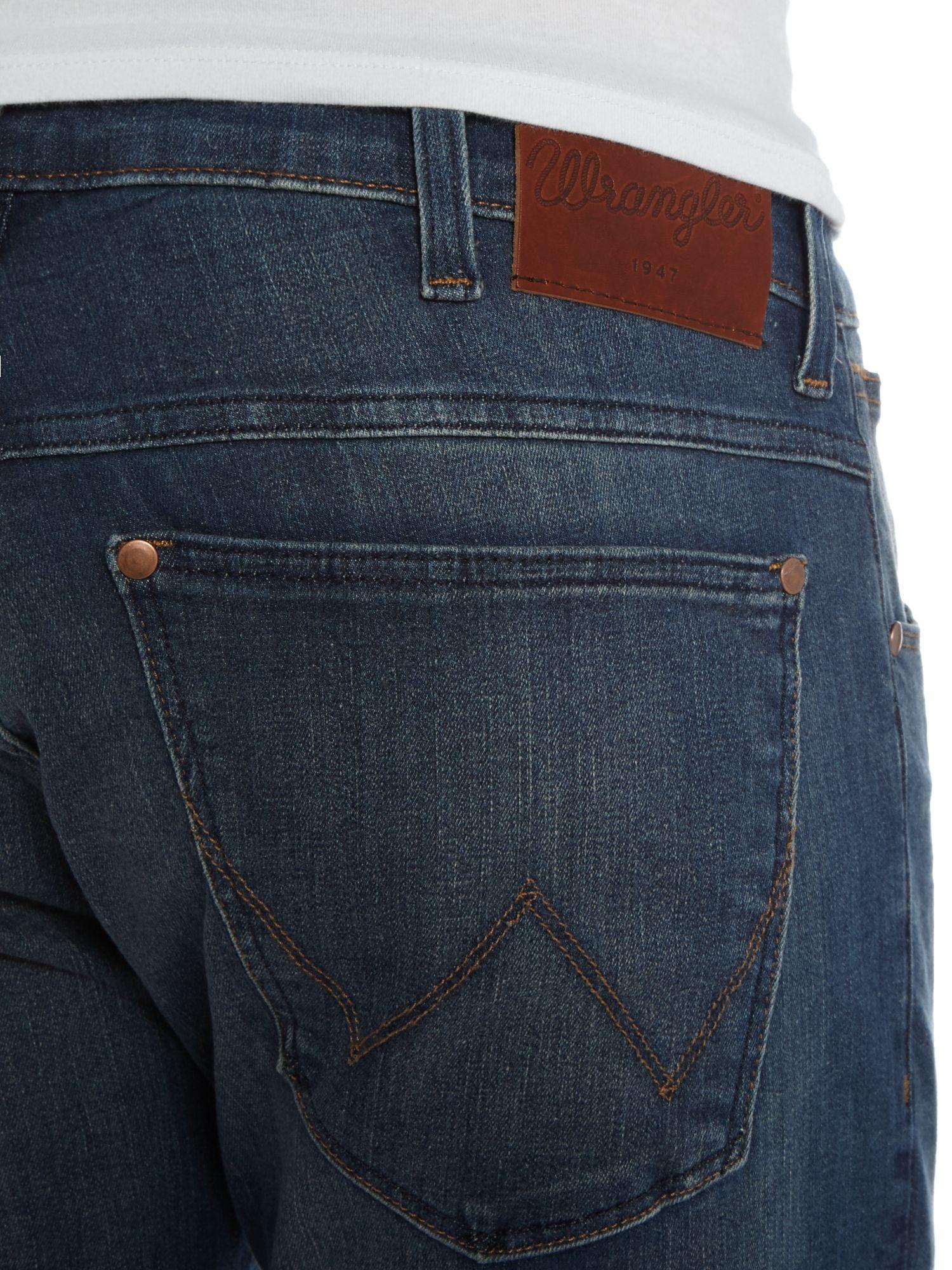 Wrangler Denim Bryson Mad Skinny Fit Mid Wash Jeans in Denim Mid Wash (Blue) for Men