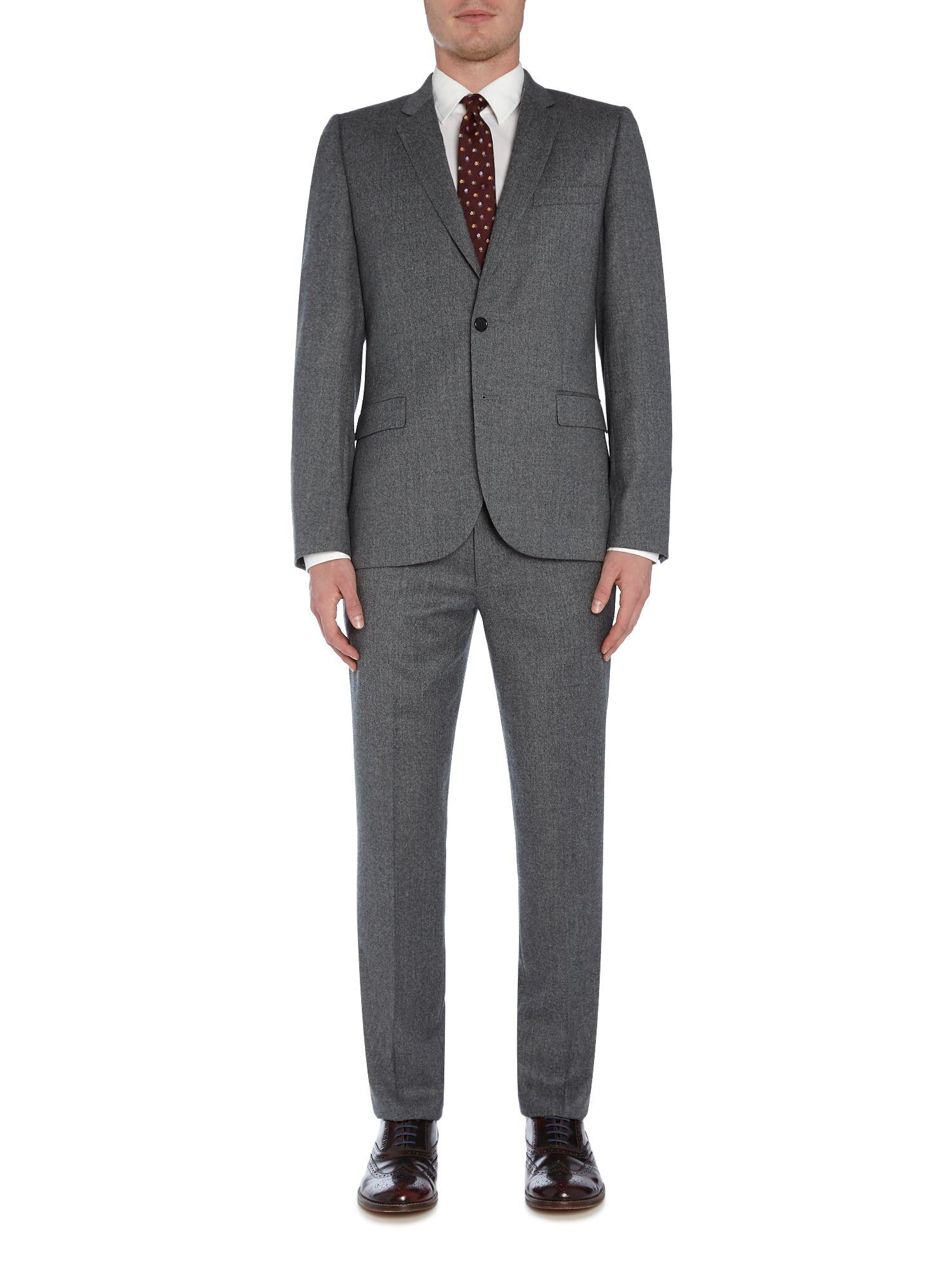 PS by Paul Smith Flannel Suit Jacket in Grey (Grey) for Men