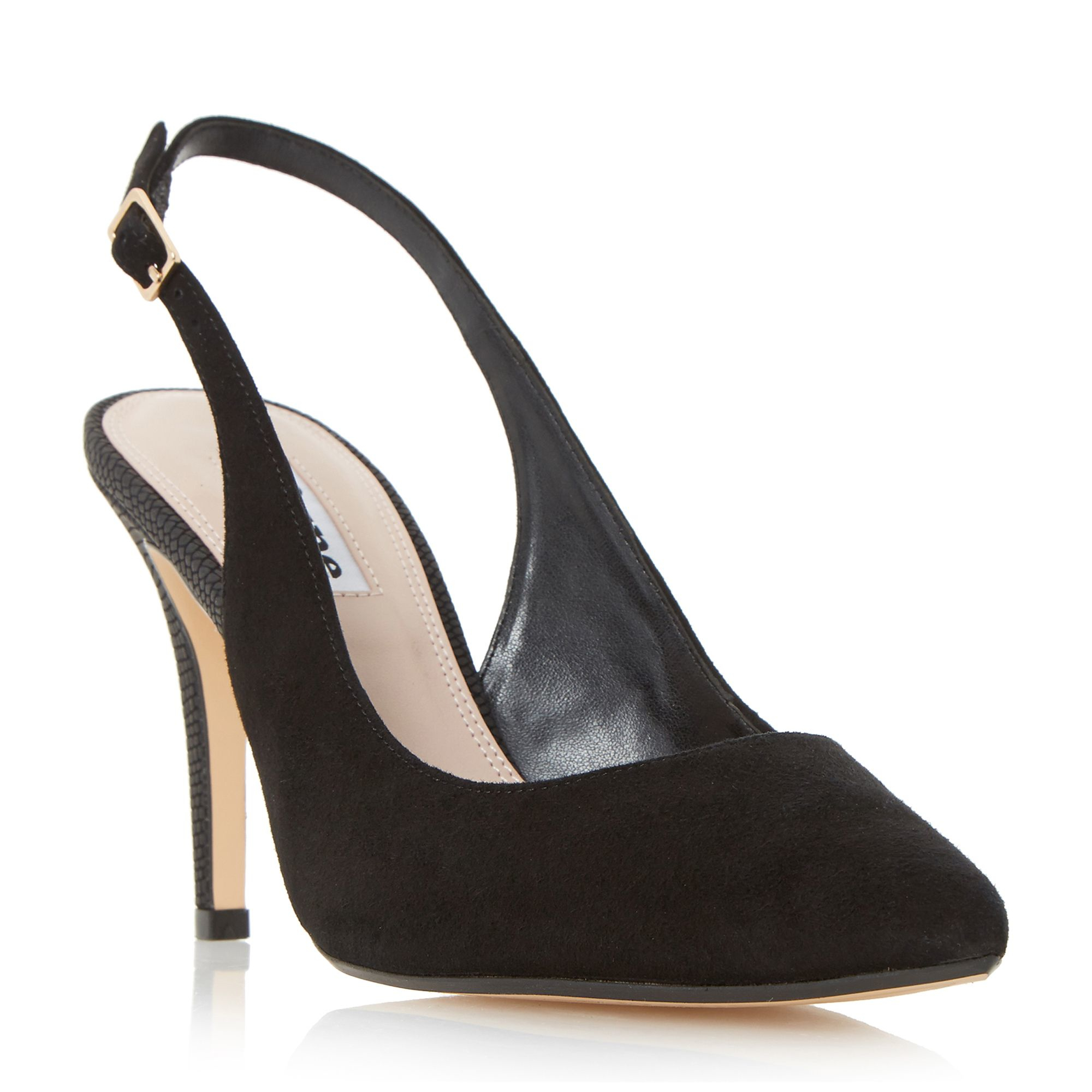 dune cathy slingback court shoes in black lyst