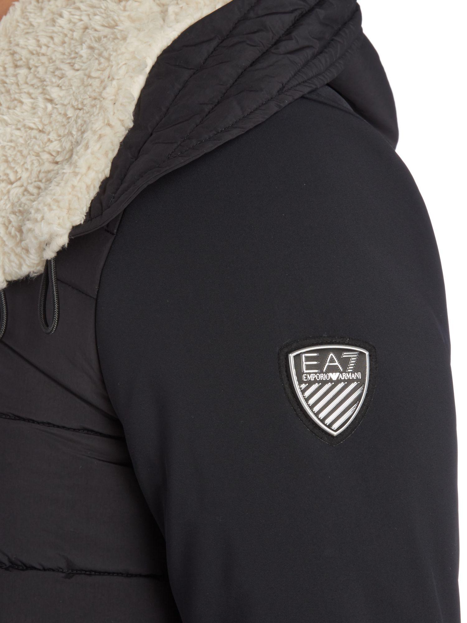 EA7 Synthetic Mountain Parka in Black for Men