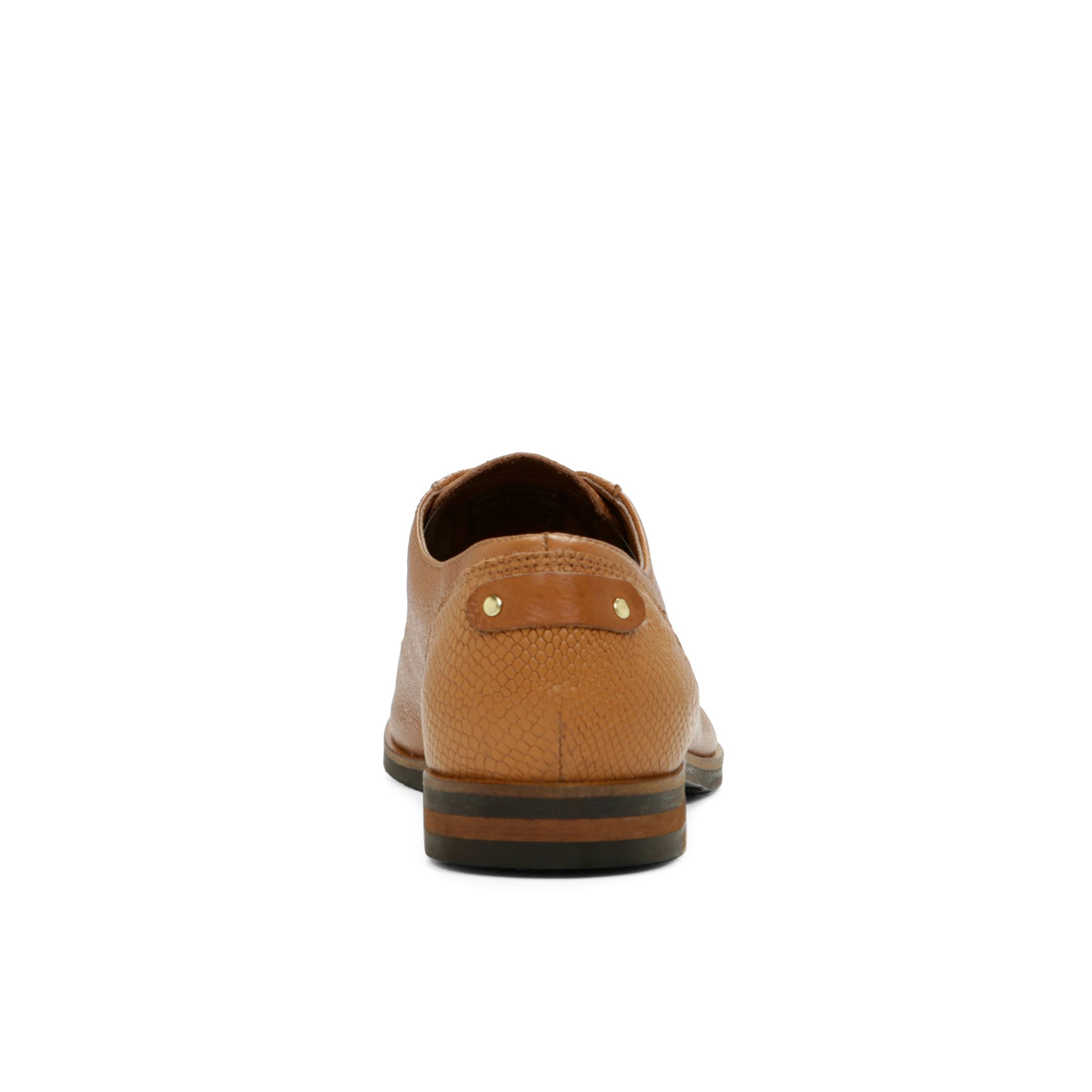 ALDO Leather Piuma Almond Toe Brogues in Cognac (Brown) for Men