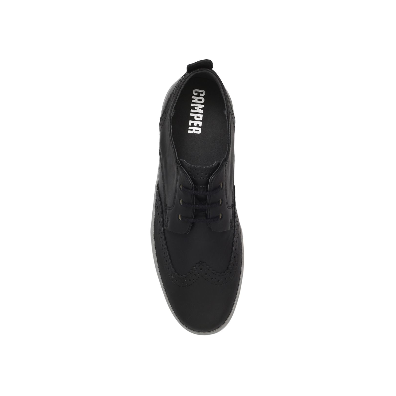 Camper Jim Wc Derby Lace Up Shoe in Black for Men